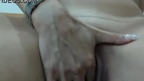 Hot milf with super creamy pussy close up